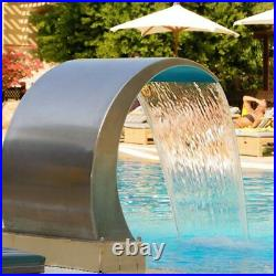 Pool Waterfall Fountain 60x30m Stainless Steel Pool Water Pond Garden Decorative