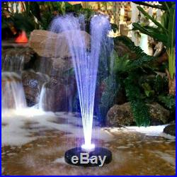 Resin Floating Spray LED Fountain Lighted Light Garden Yard Patio Pool Electric