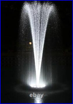 Small Floating Fountain with LED Lights White, 600GPH Pump