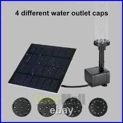 Solar Power Fountain Submersible Water Pump With Filter Panel Pond Pool 200L/h