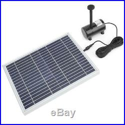 Solar Power Fountain Water Pump Floating Panel Garden Pond Pool 450-1350L/h