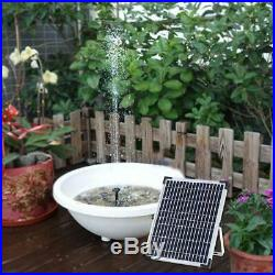 Solar Powered Fountain Pump Floating Bath Water Panel Garden Pool Pond Watering