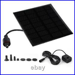 Solar Powered Mini Floating Water Pump Brushless Fountain Pool Landscape Decor