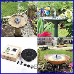 Solar power panel water pump Garden pond/Pool floating fountain Plant watering