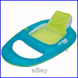 Spring Float Inflatable Recliner Pool Lounger, Aqua/Lime (4 Pack) Toys &