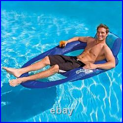 Spring Float Recliner XL Extra Large Swim Lounger for Pool or Lake Blue