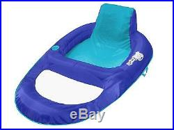 Spring Float Recliner XL Extra Large Swim Lounger for Pool or Lake Blue New