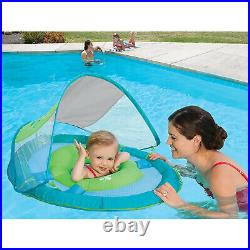 SwimWays 6038626 Spring Float Sun Canopy Baby Swim Pool Float, Colors May Vary