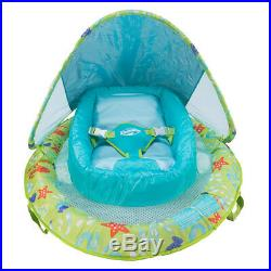 SwimWays Fabric Infant Baby Spring Swimming Pool Float with Canopy (6 Pack)