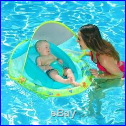 SwimWays Infant Spring Inflatable Swimming Pool Float with Canopy (4 Pack)