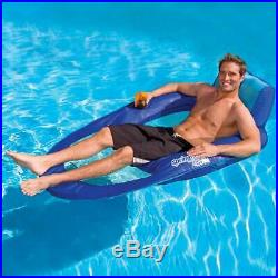 SwimWays Inflatable Spring Float Recliner Floating Pool Lounger Swim Raft Chair