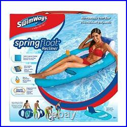SwimWays Spring Float Inflatable Vinyl Adult Recliner Pool Lounger