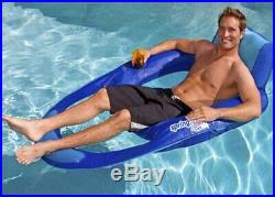 SwimWays Spring Float Mesh Recliner Floating Swimming Pool Lounge Chair (6 Pack)