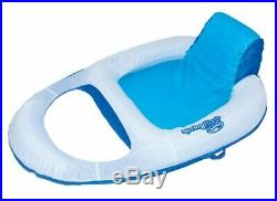 SwimWays Spring Float Recliner Floating Pool Lounge Chair (2 Pack) 13018