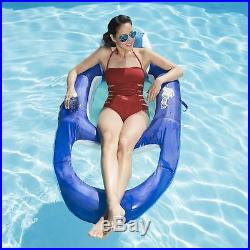 SwimWays Spring Float Recliner Floating Swimming Pool Lake Lounge Chair Floater