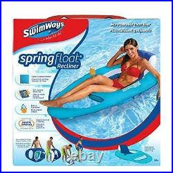 SwimWays Spring Float Recliner Swim Lounger Mesh Chair Pool Lake Inflatables NEW