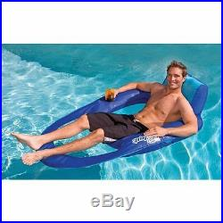 SwimWays Spring Float Recliner XL Floating Swimming Pool Lounge Chair (2 Pack)
