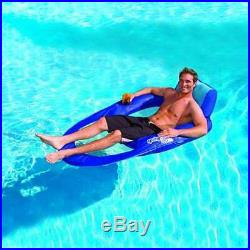 SwimWays Spring Float Recliner XL Inflatable Pool Float Lounge Chair (Open Box)