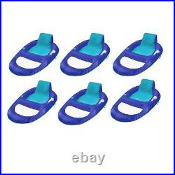 SwimWays Spring Float Recliner XL Inflatable Swimming Pool Lounge Chair (6 Pack)