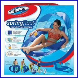 SwimWays Spring Float Recliner with Inflatable Twist & Fold Spring Pool Float