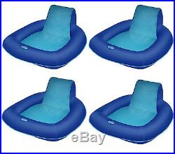 SwimWays Spring Float SunSeat Floating Pool Lounge Chair (4-Pack) 13017