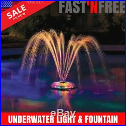 Swimming Pool Light Floating Underwater Light Show Fountain Swim Party LED Decor