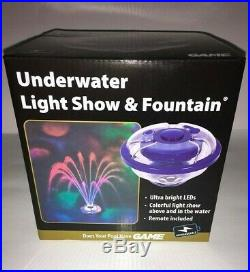 Swimming Pool Lights Underwater Floating Fountain Show Waterfall LED Multi Color