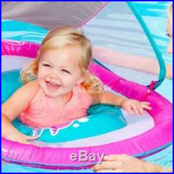 Swimways Baby Infant Spring Float Canopy Pink Swimming Pool Float Outdoor Fun