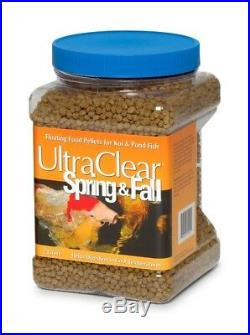 UltraClear Spring & Fall Koi & Pond Fish Floating Pellet Food with Wheat Germ