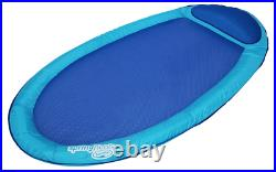 Water Hammock Styled Spring Swimming Pool Float Blue Recliner with Mesh Bed