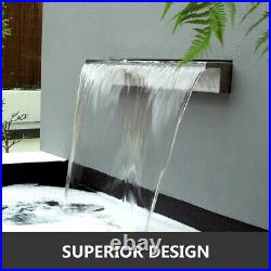 Waterfall Pool Fountain Stainless Steel Cascade Outdoor Garden Swimming Pool
